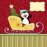 Modelo en blanco para la tarjeta de felicitaciones de la Navidad Fotografía de archivo libre de regalías