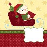 Modelo en blanco para la tarjeta de felicitaciones de la Navidad Foto de archivo libre de regalías