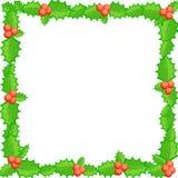 Modelo en blanco para la tarjeta de felicitaciones de la Navidad Imagen de archivo libre de regalías