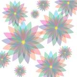 Modelo en colores pastel floral inconsútil ilustración del vector