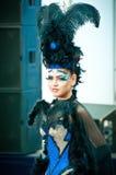 Modelo en el campeonato para el maquillaje creativo Fotografía de archivo libre de regalías