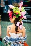 Modelo en el campeonato para el maquillaje creativo Imagen de archivo libre de regalías