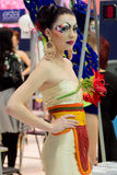Modelo en el festival anual de la belleza Imagen de archivo