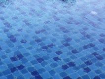 Modelo en fondo de la piscina imagen de archivo libre de regalías