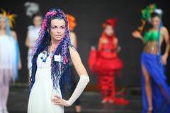 Modelo en III el campeonato ruso de tejido Imagen de archivo