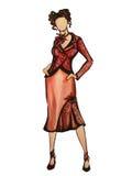 Modelo en rojo Imagen de archivo