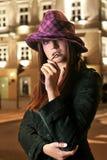 Modelo en sombrero Foto de archivo libre de regalías