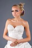 Modelo en un dressd de la boda Imágenes de archivo libres de regalías