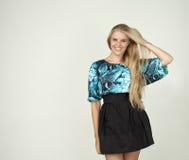 Modelo en una blusa de moda Foto de archivo libre de regalías