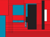 Modelo enrrollado del estilo de Mondrian libre illustration