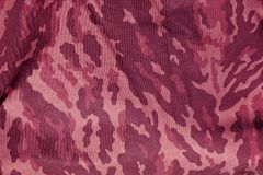 Modelo entonado rosa del uniforme del camuflaje de los militares Foto de archivo