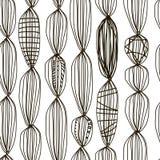 Modelo escandinavo blanco y negro, rayas caóticas abstractas Fotografía de archivo