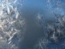 Modelo escarchado en ventana del invierno Imagen de archivo libre de regalías