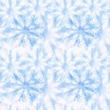 Modelo escarchado inconsútil, copos de nieve nosotros ejemplo de cristal stock de ilustración