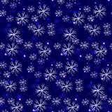 Modelo escarchado inconsútil, copos de nieve nosotros ejemplo de cristal ilustración del vector
