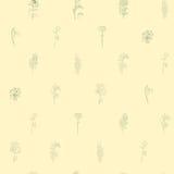 Modelo escaso con las flores Imagenes de archivo