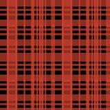 Modelo escocés del leñador del tartán inconsútil con colores rojos y negros stock de ilustración