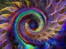Modelo espiral accidental Fotografía de archivo libre de regalías