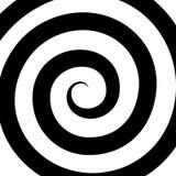 Modelo espiral de la hipnosis Ilusión óptica Vector Imagen de archivo libre de regalías