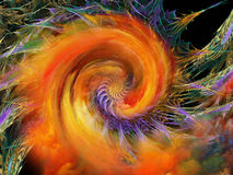 Modelo espiral virtual Imágenes de archivo libres de regalías