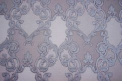 Modelo Espirales y curvas blancos y grises en el papel foto de archivo