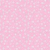 Modelo exhausto de la repetición de las flores de la mano rosa clara del vector Conveniente para el papel de regalo, la materia t libre illustration