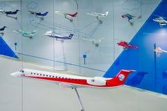 Modelo Exhibition do avião de vários tipos fotos de stock royalty free