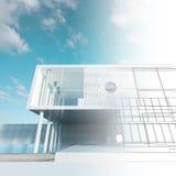 Modelo exterior ilustração stock