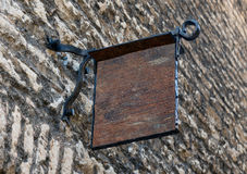 Modelo exterior do signage do estilo medieval vazio fotografia de stock royalty free