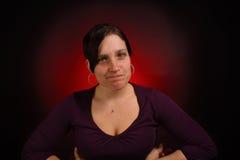Modelo fêmea com PMS Imagem de Stock Royalty Free