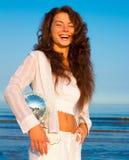Modelo fêmea da beleza fotografia de stock