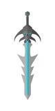 Modelo fantástico Vetora da espada do jogo no projeto liso Fotografia de Stock Royalty Free
