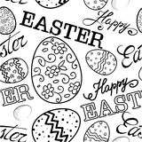 Modelo feliz del bosquejo de Pascua libre illustration