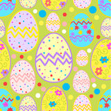 Modelo feliz del bosquejo de Pascua stock de ilustración