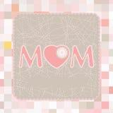 Modelo feliz del cartel del día de madre. EPS 8 Imágenes de archivo libres de regalías