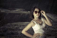 Modelo femenino asiático joven. Fotos de archivo libres de regalías