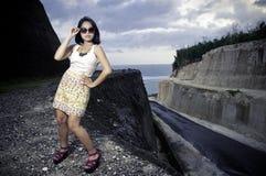 Modelo femenino asiático joven. Imagen de archivo
