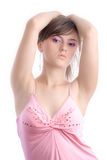 Modelo femenino atractivo Foto de archivo libre de regalías