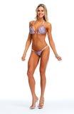 Modelo femenino de la aptitud en bikini Foto de archivo