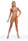 Modelo femenino de la aptitud en bikini Imagenes de archivo