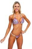 Modelo femenino de la aptitud en bikini Fotografía de archivo