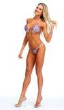 Modelo femenino de la aptitud en bikini Imagen de archivo