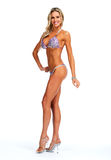 Modelo femenino de la aptitud en bikini Imágenes de archivo libres de regalías