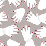 Modelo femenino de las manos Imagen de archivo