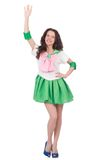 Modelo femenino en el traje cosplay aislado en Imagen de archivo libre de regalías