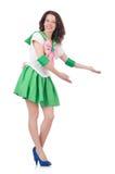 Modelo femenino en el traje cosplay aislado en blanco Foto de archivo libre de regalías