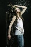 Modelo femenino hermoso Imagenes de archivo