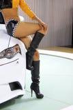 Modelo femenino hermoso del coche Fotografía de archivo