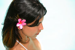 Modelo femenino latino caliente Fotografía de archivo
