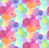 Modelo festivo inconsútil con confeti multicolor en el fondo blanco Bokeh de la pendiente stock de ilustración